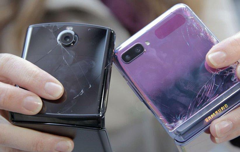 تماشا کنید: تست سقوط گوشی های تاشو گلکسی Z Flip و موتورولا ریزر