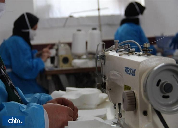 تولید روزانه 10هزار ماسک توسط هنرمندان صنایع دستی آذربایجان غربی