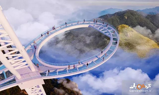 تصاویری هیجان انگیز از عظیم ترین راکت تنیس آسمانی در چین، از راهروی آسمان گذرکنید!