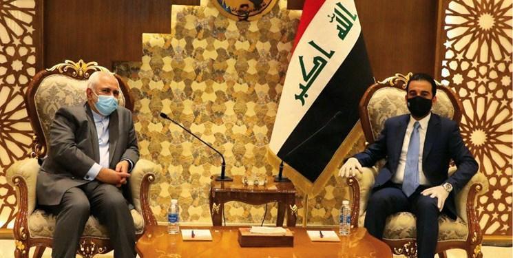 رئیس مجلس عراق پس از دیدار با ظریف: از تقویت روابط با همسایگان حمایت می کنیم