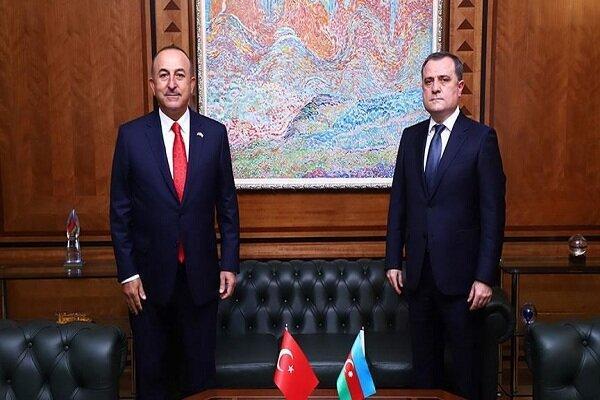 وزیر خارجه ترکیه با همتای خود از جمهوری آذربایجان ملاقات کرد