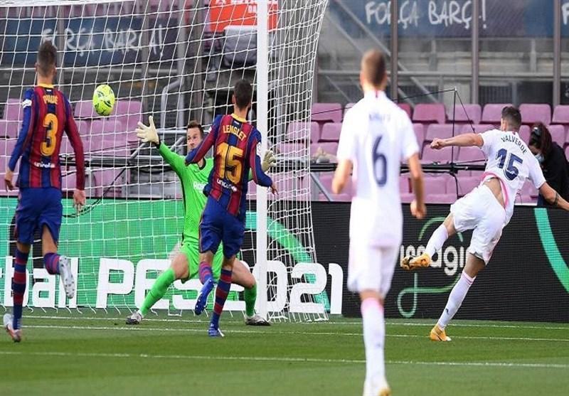 تساوی رئال مادرید و بارسلونا در پایان نیمه نخست ال کلاسیکو