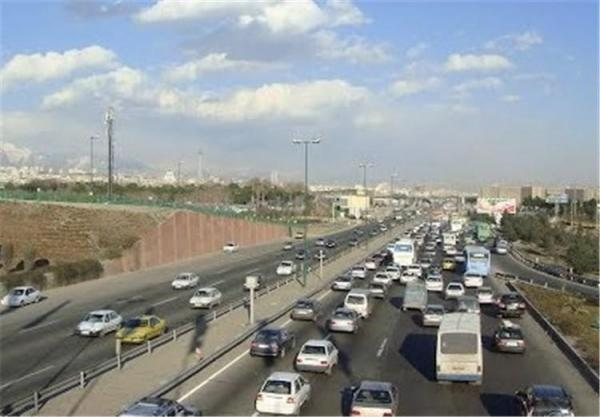 تصادف زنجیره ای در اتوبان تهران - قزوین