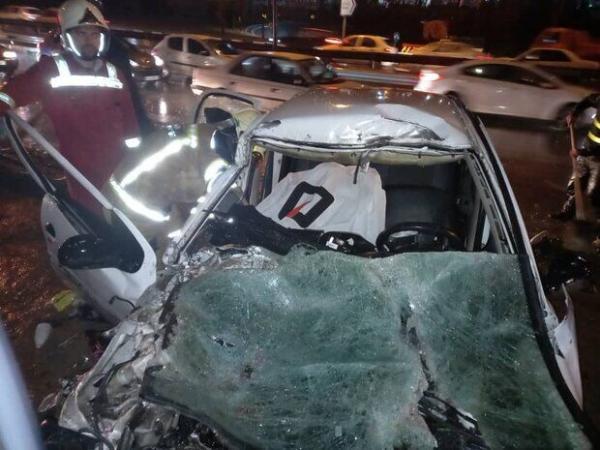 خبرنگاران تصادف مرگبار در شرق تهران