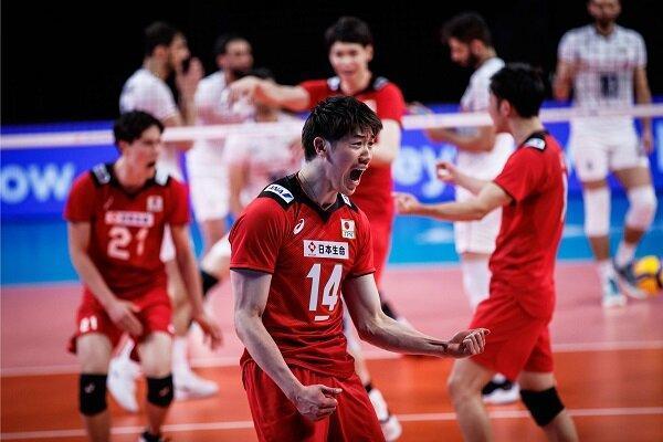 شکست تیم ملی والیبال ایران مقابل ژاپن در غیاب سعید معروف