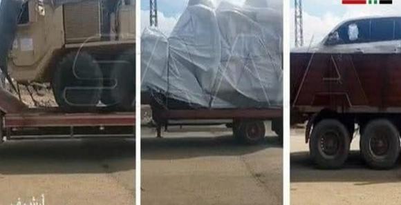 آمریکا 60 کامیون حامل تجهیزات نظامی و لجستیک به پایگاه هایش در سوریه فرستاد