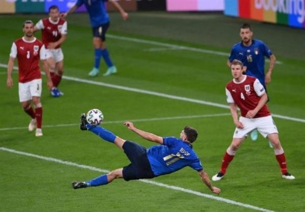 یورو 2020، مصاف ایتالیا و اتریش به وقت های اضافه کشید