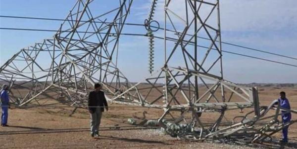 تداوم خرابکاری ها در شبکه برق عراق؛ سقوط سه دکل برق دیگر