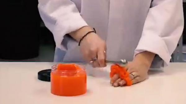 فراوری ماده جالب نارنجی رنگ برای محافطت در برابر ضربه