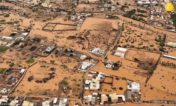 تور ارزان عمان: تصاویر هوایی تکان دهنده از منطقه ها غرق شده در عمان